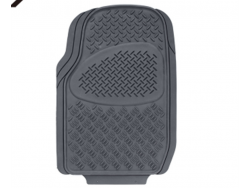 New 3 pcs All Weather Protection Rubber Floor Mats,Original Car Mat - Semi Custom Fit (Gray)