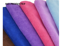 80% polyester 20% polyamide microfiber towel with printed logo microfiber car towel cleaning-various colors