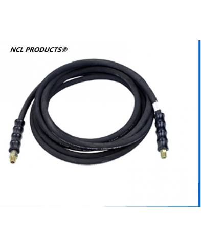 Black High Pressure Hose Kit, One Braid Rubber