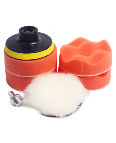 "7pcs 3"" car polishing pad set Polishing Buffer Waxing Buffing Pad Drill Set Kit Car Polishing sponge Wheel Kit polisher"